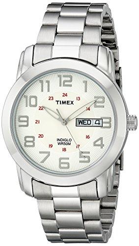 Timex Men's Highland Street Silver-Tone Stainless Steel Bracelet Watch