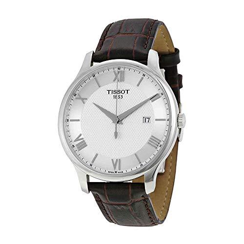 Tissot Men's Tradition Analog Display Swiss Quartz Brown Watch