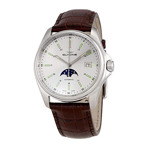 Glycine Combat 6 Classic Moonphase Automatic Silver Dial Men's Watch GL0115