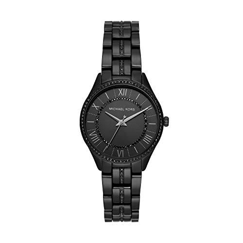 Michael Kors Women Lauryn Quartz Stainless Steel Black with Black Dial Watch MK4337