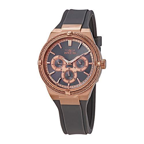 Invicta Women's Bolt Stainless Steel Quartz Watch with Polyurethane Strap, Gray, 18.4 (Model: 28911)