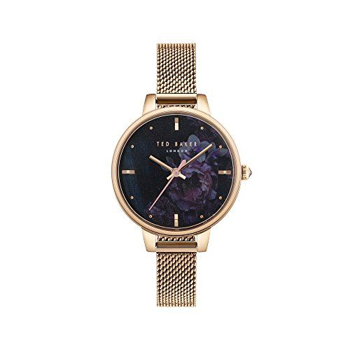 Ted Baker Women's Kate Quartz Watch with Stainless-Steel Strap, Rose Gold, 10 (Model: TE50070015)