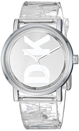 DKNY Women's Soho Quartz Watch with Polyurethane Strap, Clear, 17.2 (Model: NY2807)