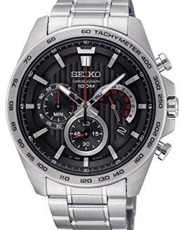 Seiko Mens Chronograph Quartz Watch with Stainless Steel Strap SSB299P1
