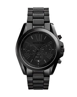 Michael Kors Womens Bradshaw Chronograph Stainless Steel Wrist Watch, Black-MK5550