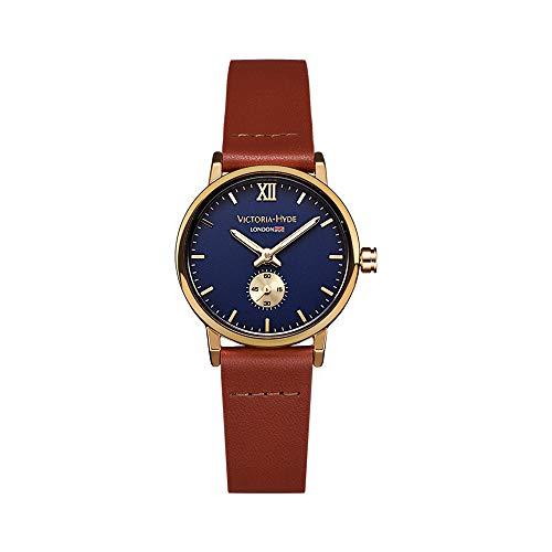 VICTORIA HYDE Retro Women Wristwatches Small Dial Analog Quartz Watches for Ladies
