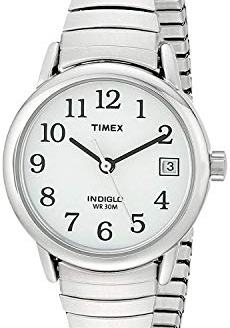 Timex Women's T2H371 Quartz Easy Reader Watch with White Dial Analogue Display and Silver Stainless Steel Bracelet Women's