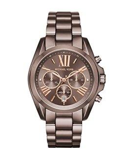 Michael Kors Womens Bradshaw Quartz Chronograph Stainless Steel Bracelet Watch,Brown-MK6247