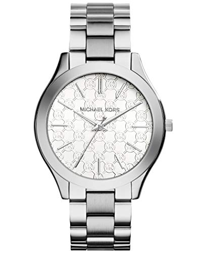 Michael Kors Women's 'Slim Runway' Japanese Quartz Movement Stainless Steel Watch, Color:Silver-Toned (Model: MK3371)