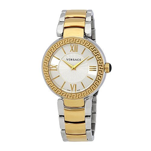 Versace Leda Silver Dial Ladies Two Tone Watch