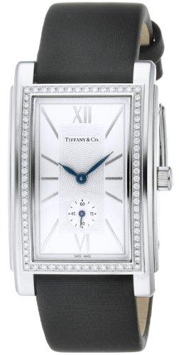 Tiffany & Co. Watch Grand Silver Dial Diamond Satin Belt