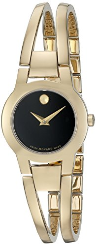 Movado Women's Swiss Quartz Gold-Plated Casual Watch (Model: 0606946)