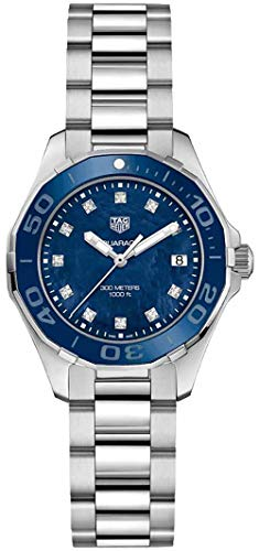 Tag Heuer Aquaracer Blue Mother of Pearl Diamond Dial Ladies Watch