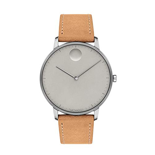 Movado FACE, Grey Ion-Plated Stainless Steel Case, Grey Dial
