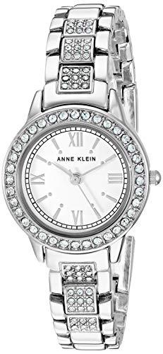 Anne Klein Women's Swarovski Crystal Accented Silver-Tone Bracelet Watch Anne Klein Women's Swarovski Crystal Accented Silver-Tone Bracelet Watch and Bangle Set, AK/3334WTST.