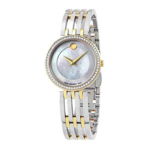Movado Esperanza, Yellow Stainless Steel Case, White Dial, Stainless Steel Bracelet, Women, 0607085