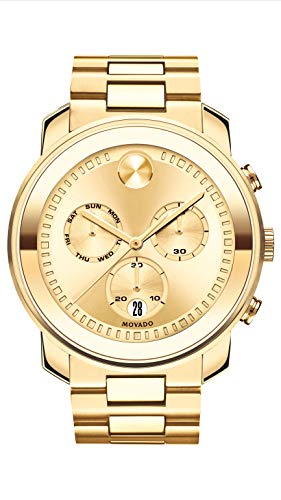 Movado Men's BOLD Large Metals Chronograph Watch with a Printed Index Dial