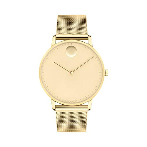 Movado FACE, Gold Stainless Steel Case, Pale Yellow Gold-Toned Dial