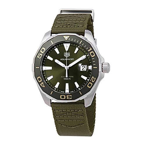 TAG Heuer Aquaracer 43mm Men's Watch w/Khaki Textile Strap