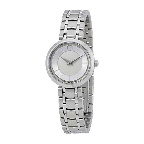 Movado 1881 Silver Dial Stainless Steel Ladies Watch 0607098