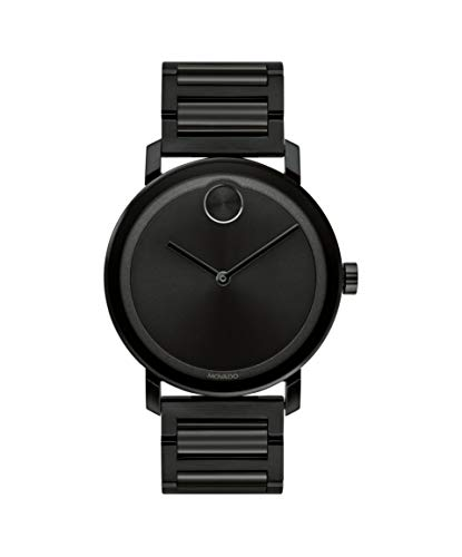 Movado Bold, Ionic Plated Black Steel Case, Black Dial, Black Steel Bracelet, Men, 3600538