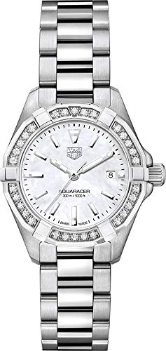 Tag Heuer Aquaracer Diamond White Mother of Pearl Dial Ladies Watch