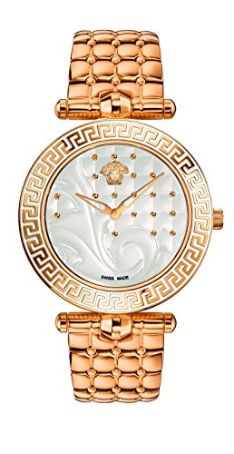 Versace Women's Vanitas Analog Display Swiss Quartz Gold Watch