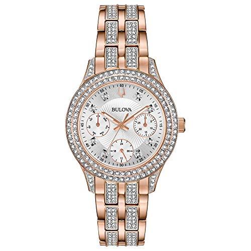 Bulova Women's Swarovski Crystal Quartz Watch with Stainless-Steel Strap
