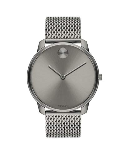 Movado Bold, Grey Ion-Plated Stainless Steel Case, Grey Dial