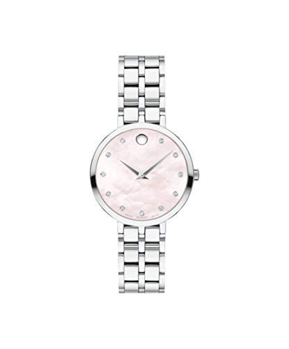 Movado Kora, Stainless Steel Case, Pink Dial, Stainless Steel Bracelet, Women, 0607322