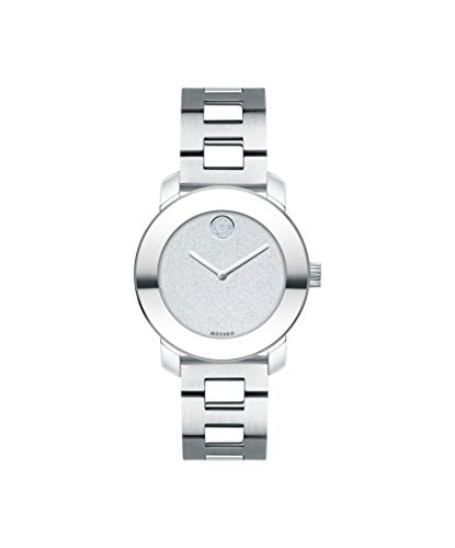 Movado Bold, Stainless Steel Case, Silver Dial, Stainless Steel Bracelet, Women, 3600568