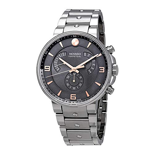 Movado Men's 0607130 SE Pilot Analog Display Swiss Quartz Silver Watch