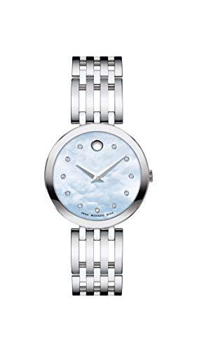 Movado Esperanza Mother of Pearl Diamond Dial Ladies Watch 0607304
