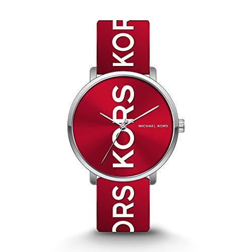 Michael Kors Unisex Charley Three-Hand Silver-Tone Alloy Watch