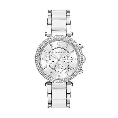Michael Kors Women's Parker Acetate and Stainless Steel Watch