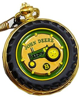 John Deere Pocket Watch Tractor Model B Franklin Mint Collectible Pocketwatch