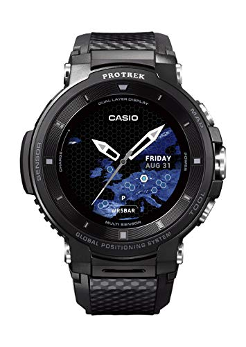 Casio Pro Trek Touchscreen Outdoor Smart Watch Resin Strap, Black