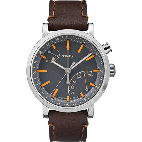 Timex Unisex Metropolitan+ Dark Brown Stitched Leather Strap Watch