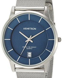 Armitron Men's Date Function Dial Silver-Tone Mesh Bracelet Watch