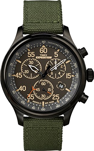 Timex Men's Expedition Field Chronograph Green/Black Nylon Strap Watch