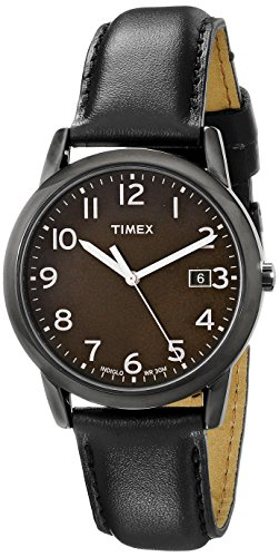 Timex Men's South Street Black Leather Strap Watch