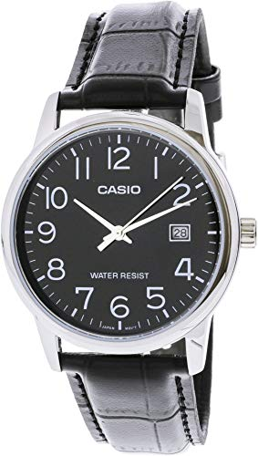 Casio Men's Standard Analog Leather Band Easy Reader Day Date Watch