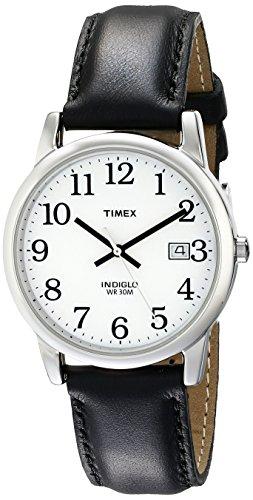 Timex Men's Easy Reader 35mm Black Leather Strap Watch