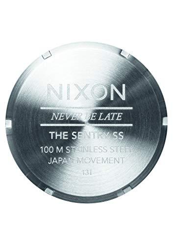 Nixon Mens The Sentry SS Blue Sunray Watch