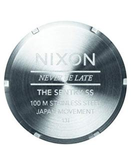 Nixon Mens The Sentry SS Blue Sunray Watch
