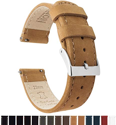 20mm Gingerbread Brown - Barton Quick Release - Top Grain Leather Watch