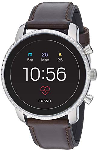 Fossil Men's Gen 4 Explorist HR Heart Rate Stainless Steel and Leather Touchscreen