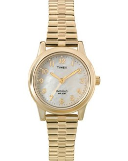 Timex Women's Essex Avenue Gold-Tone Stainless Steel Expansion Band Watch