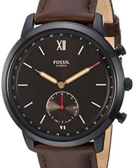 Fossil Men's Hybrid Smartwatch Stainless Steel Watch with Leather Strap
