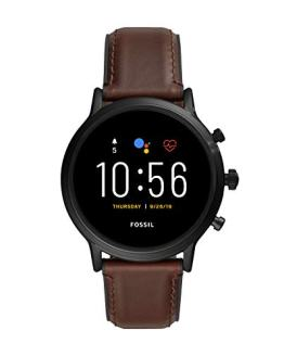 Fossil Gen 5 Carlyle HR Heart Rate Stainless Steel and Leather Touchscreen